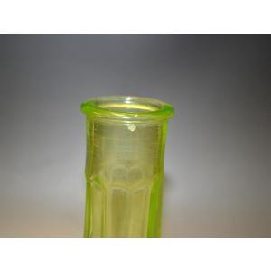 ウランガラス 花瓶 花活 カッティング レトロ アンティーク 1801-500|passage-bm|08
