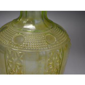 ウランガラス 花瓶 花活 カッティング レトロ アンティーク 1801-500|passage-bm|09