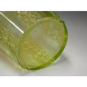 ウランガラス 花瓶 花活 カッティング レトロ アンティーク 1801-500|passage-bm|10