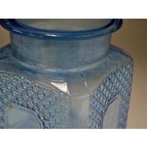 カッティングガラス 色ガラス 広口瓶 キャンディポット レトロ アンティーク 1801-501|passage-bm|13