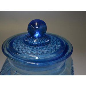 カッティングガラス 色ガラス 広口瓶 キャンディポット レトロ アンティーク 1801-501|passage-bm|03