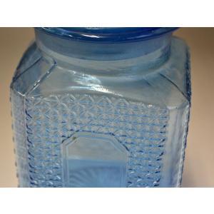 カッティングガラス 色ガラス 広口瓶 キャンディポット レトロ アンティーク 1801-501|passage-bm|04