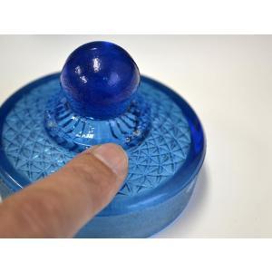 カッティングガラス 色ガラス 広口瓶 キャンディポット レトロ アンティーク 1801-501|passage-bm|05
