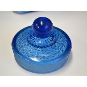 カッティングガラス 色ガラス 広口瓶 キャンディポット レトロ アンティーク 1801-501|passage-bm|06
