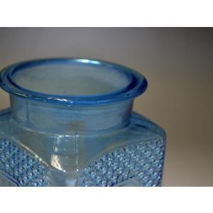 カッティングガラス 色ガラス 広口瓶 キャンディポット レトロ アンティーク 1801-501|passage-bm|08
