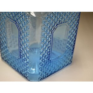 カッティングガラス 色ガラス 広口瓶 キャンディポット レトロ アンティーク 1801-501|passage-bm|09