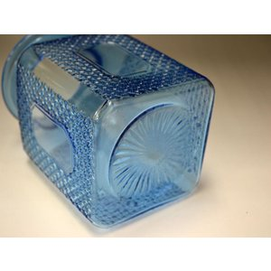カッティングガラス 色ガラス 広口瓶 キャンディポット レトロ アンティーク 1801-501|passage-bm|10