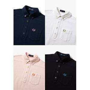 FRED PERRY フレッドペリー B.D PIQUE SHIRT 半袖ボタンダウンポロシャツ F1819|passage-store