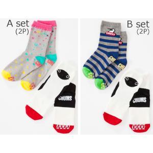 CHUMS チャムス Kid's Socks 2P Set キッズソックス2Pセット CH26-1003 14-16cm 16-18cm passage-store