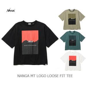 NANGA ナンガ NANGA MT LOGO LOOSE FIT TEE ナンガMTロゴルーズフィットティー|passage-store