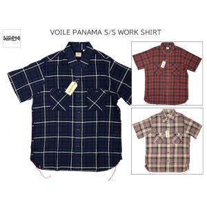 SUGAR CANE シュガーケーン ボイルパナマ 半袖ワークシャツ VOILE PANAMA S/S WORK SHIRT SC38433|passage-store