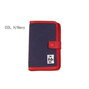 CHUMS チャムス Notebook Style Mobile Case Sweat ノートブックスタイル モバイルケース スウェット CH60-2361 passage-store