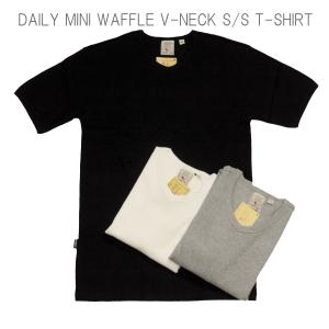 AVIREX アヴィレックス DAILY MINI WAFFLE V-NECK S/S T-SHIRT デイリー ミニ ワッフル Vネック ショートスリーブ Tシャツ 6143149 passage-store