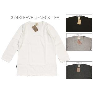 AVIREX アヴィレックス DAILY 2/3 SLEEVE U-NECK T-SHIRT デイリー 2/3 スリーブ Uネック Tシャツ 6143509 passage-store