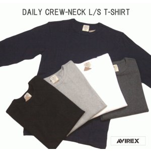 AVIREX アヴィレックス デイリー テレコ クルーネック 長袖Tシャツ DAILY CREW-NECK L/S T-SHIRT 6153481 passage-store