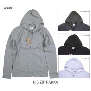 AVIREX アヴィレックス DAILY RIB ZIP PARKA デイリー リブジップパーカー 6153641 passage-store