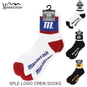 MANASTASH マナスタッシュ SPLE LOGO CREW SOCKS スペル ロゴ クルーソックス 7199038 \1,650 passage-store
