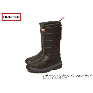 HUNTER ハンター レディース オリジナル インシュレイティド トール スノー ブーツ ブラック|passage-store