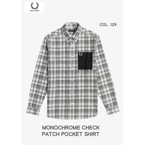 FRED PERRY フレッドペリー モノクローム チェックシャツ MONOCHROME CHECK PATCH POCKET SHIRT パッチポケット M1505 passage-store
