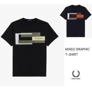 FRED PERRY フレッドペリー MIXED GRAPHIC T-SHRT 半袖グラフィック Tシャツ M1599 passage-store