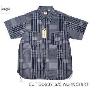 SUGAR CANE シュガーケーン カット ドビー 半袖ワークシャツ CUT DOBBY S/S WORK SHIRT SC38432|passage-store