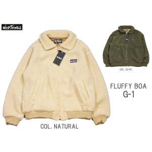 WILD THINGS ワイルドシングス FLUFFY BOA G-1 フラッフィー ボア G-1ジャケット WT19119N 裏地付き防風防寒|passage-store