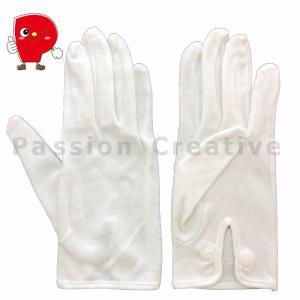 綿スムスホック付き手袋 パッションオリジナル 5双組 【送料無料!】PC-05 礼装用 運転用 サービス業務用|passion-work