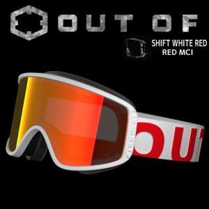 アウトオブ スノーゴーグル 15-16 SHIFT WHITE RED RED MCI W6G6007 スキー スノーボード ゴーグル メンズ レディース passo