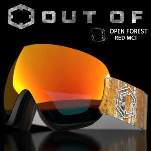 アウトオブ スノーゴーグル 15-16 OUT OF OPEN FOREST ミラーレンズ RED MCI W6G1005 passo