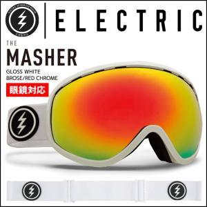 ELECTRIC エレクトリック スノーゴーグル メンズ レディース スキー スノーボード 17-18 MASHER GLOSS WHITE - BROSE/RED CHROME passo