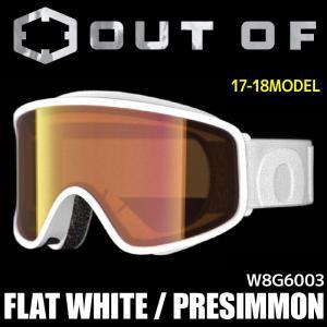 アウトオブ スノー ゴーグル メンズ レディース スキー スノーボード 17-18 FLAT W8G6003 WHITE - PRESIMMON passo