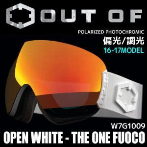 アウトオブ スノー ゴーグル 偏光 調光 ミラーレンズ メンズ レディース スキー スノーボード 17-18 OPEN W8G1004 WHITE passo