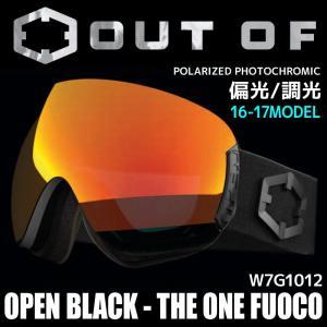 アウトオブ スノー ゴーグル 偏光 調光 ミラーレンズ メンズ レディース スキー スノーボード OUT OF 16-17 OPEN W7G1012 BLACK - THE ONE FUOCO passo