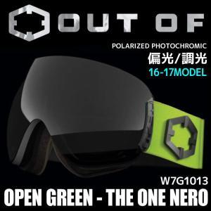 アウトオブ スノー ゴーグル 偏光 調光 ミラーレンズ メンズ レディース スキー スノーボード OUT OF 16-17 OPEN W7G1013 GREEN - THE ONE NERO passo
