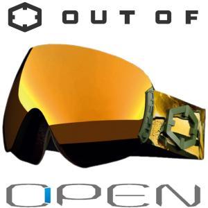 新作 OUT OF スノーゴーグル 18-19 OPEN W9G2001 EASTERN GOLD /