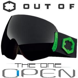 新作 OUT OF スノーゴーグル 18-19 OPEN W9G2003 BLACK GREEN / THE