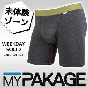MYPAKAGE (マイパッケージ) メンズ アンダーウェア WEEKDAY SOLID DARKHEATHER 息子の小部屋パンツ|passo