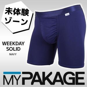 MYPAKAGE (マイパッケージ) メンズ アンダーウェア WEEKDAY SOLID NAVY 息子の小部屋パンツ|passo