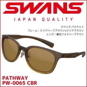 スワンズ (SWANS) スポーツサングラス Df.pathway (ディ−エフ・パスウェイ) PW-0065 [CBR] レディース 偏光レンズ uvカット ケース付き passo