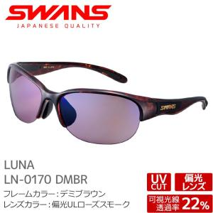 SWANS スワンズ サングラス LN-0170 DMBR LUNA デミブラウン