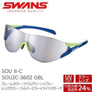 SWANS サングラス FZ-SOU2C-3602 GBL SOU-II-C ソウツー グリーン×ブルー