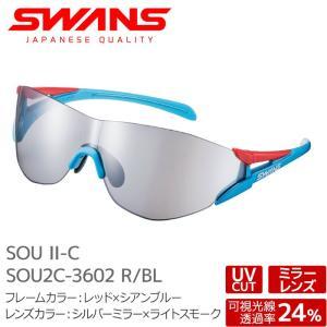 SWANS サングラス FZ-SOU2C-3602 R/BL SOU-II-C ソウツー レッド×シアンブルー