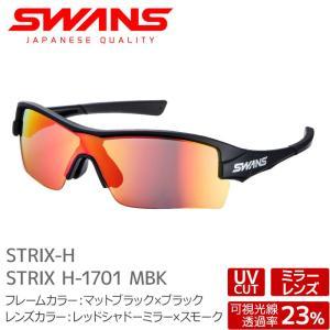 SWANS サングラス STRIX H-1701 MBK ストリックス マットブラック×ブラック