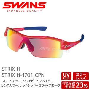 SWANS サングラス STRIX H-1701 CPN ストリックス クリアピンク×ネイビー