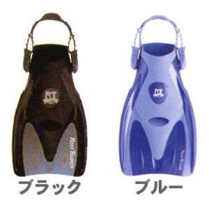 スノーケリング用コンパクトフィン ブラック/ブルー passo