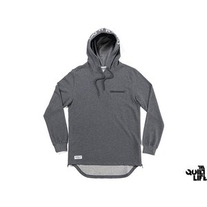 THE QUIET LIFE ON AND OFF PULLOVER HOOD CHARCOAL HEATHER クワイエットライフ オンアンドオフ プルーオーバーフード 16fad2-2108|passover