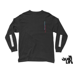 THE QUIET LIFE NO SAD CLUB LONG SLEEVE TEE BLACK クワイエットライフ ノーサッドクラブ ロングスリーブティー 17FWD1-1134|passover