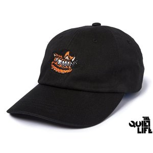 THE QUIET LIFE SHAKEY CAT DAD HAT BLACK クワイエットライフ シェイキーキャット ダッドハット ブラック 17FWD2-2201|passover