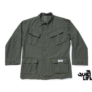 THE QUIET LIFE x NATHAN BELL SNAKEPIT FATIGUE JACKET MILITARY GREEN クワイエットライフ スネークピット ファティーク HOL-4101|passover