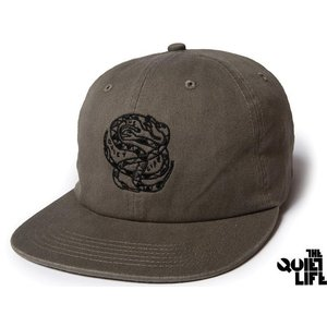 THE QUIET LIFE x NATHAN BELL SNAKEPIT 6 PANEL POLO HAT OLIVE クワイエットライフ スネークピット  17HOL-4108|passover